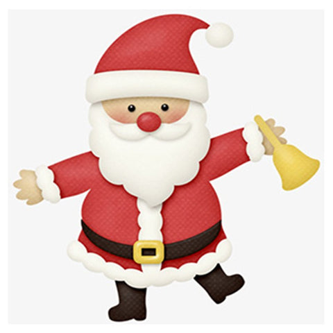 Cartoon Dancing Santa with a Bell, DIY Diamond Painting Kit