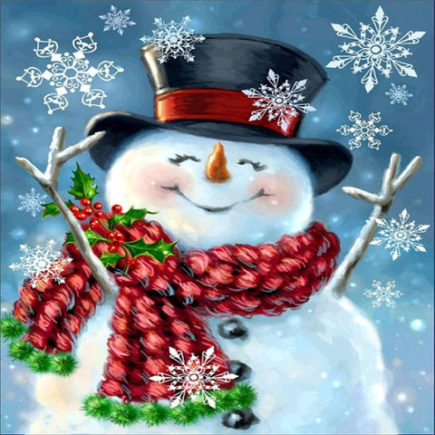 Happy Snowman, DIY Diamond Painting Kit