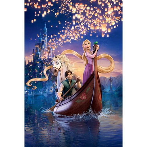 Princess, Prince, Horse, Boat, Castle, Floating Lights DIY Diamond Painting Kit
