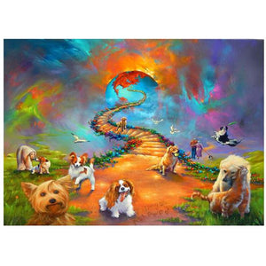 Rainbow Bridge, Dogs, Cats, Birds, Heaven, DIY Diamond Painting Kit