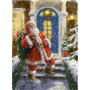 Santa Clause at the Door, DIY Diamond Painting Kit