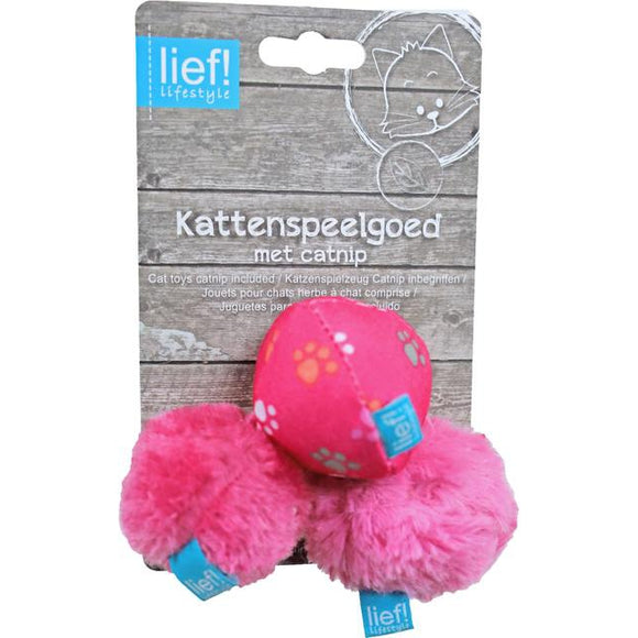 Lief! Girls kattenspeelgoed 3 soft bal