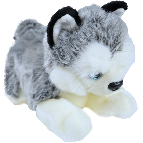 Boony 'Natural Decoration' pluche husky 20 cm, liggend.