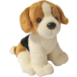 Boony 'Natural Decoration' pluche beagle 20 cm, zittend.