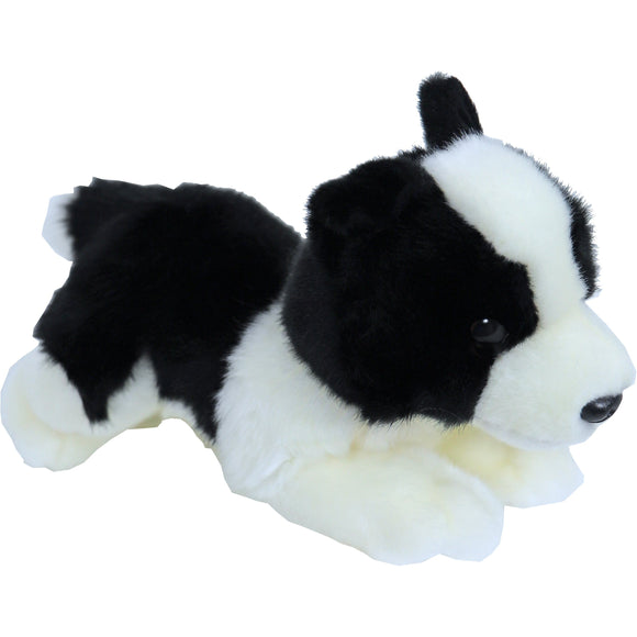 Boony 'Natural Decoration' pluche Border Collie 20 cm, liggend.