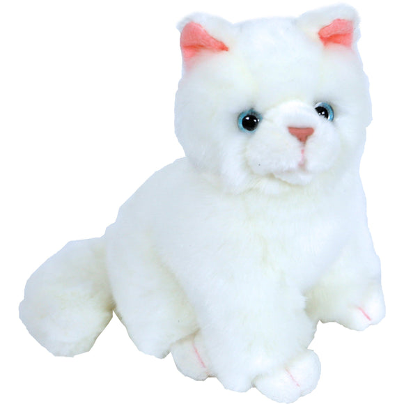 Boony 'Natural Decoration' pluche kitten wit 20 cm, zittend.