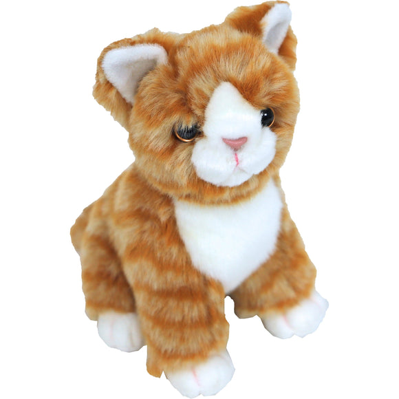 Boony 'Natural Decoration' pluche kitten rood/bruin 20 cm, zittend.