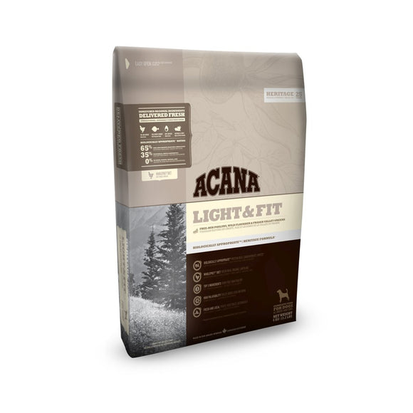 Acana Heritage Light & Fit Dog - Dierplezier.nl