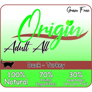 ORIGIN CAT ADULT DUCK TURKEY - Dierplezier.nl