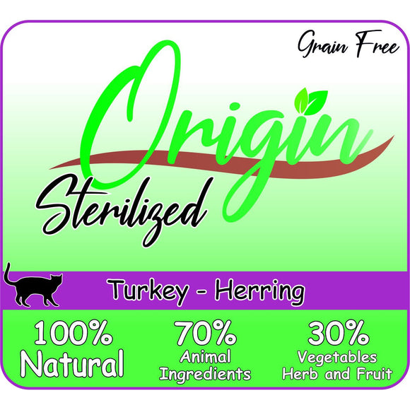 ORIGIN CAT STERILIZED TURKEY HERRING - Dierplezier.nl