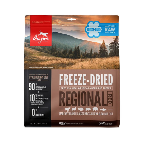 Orijen Freeze-Dried Regional Red Dog - Dierplezier.nl