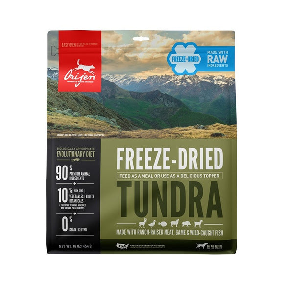 Orijen Freeze-Dried Tundra Dog - Dierplezier.nl