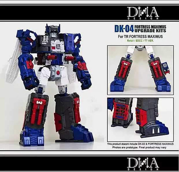 [Ready to Ship]DNA Designs DK04 Feet upgrade for Titans Returns/Legends Fortress Maximus