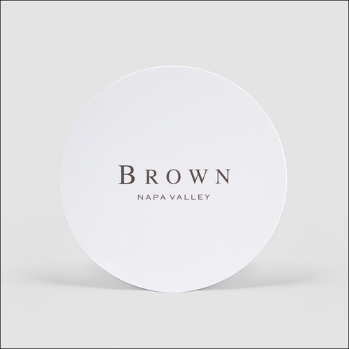 BROWN Napa Valley Coasters