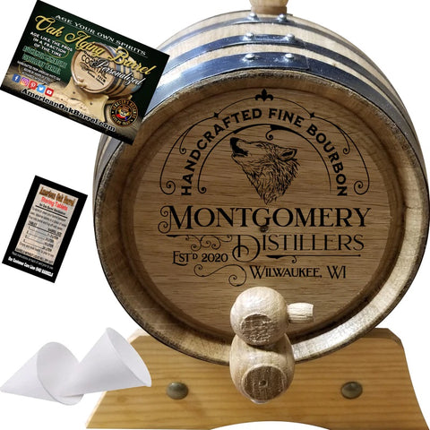 Personalized American Oak Aging Barrel - 2020 Wildlife Series