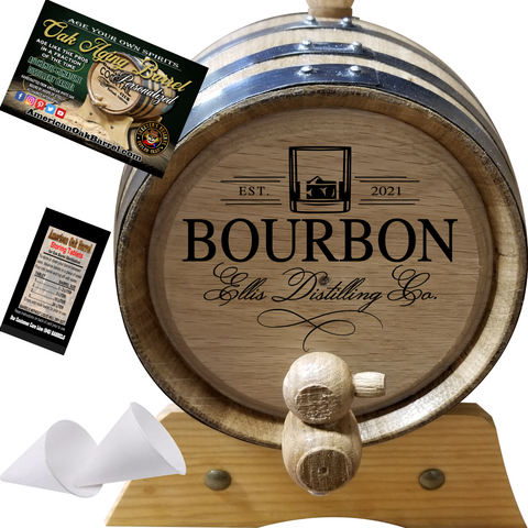 Personalized American Oak Aging Barrel - 2021 Distilling Co. Series