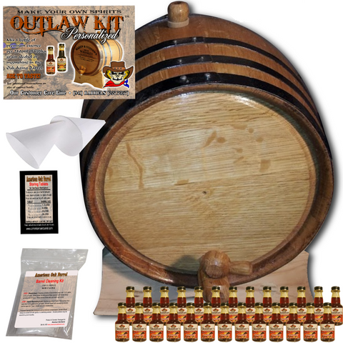 The Outlaw Kit™ - Barrel Aged Whiskey Making Kit