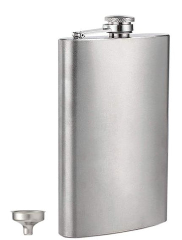 Stainless Steel Flask & Funnel - 12 oz