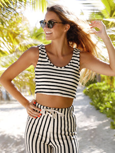 Striped Set Ivory/Black