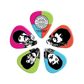 D'Addario Beatles Guitar Picks, Sgt Peppers Lonely Hearts Club Band, 10 pack, Medium