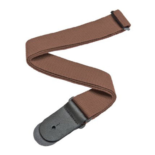 D'Addario 50CT04 50mm Cotton Guitar Strap, Brown