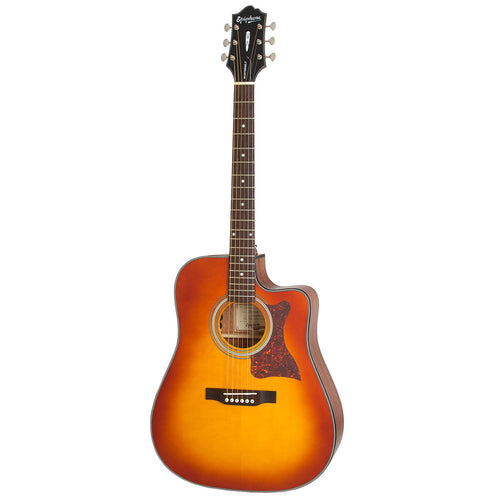Epiphone Masterbilt DR-400MCE Acoustic Guitar, Faded Cherry Sunburst