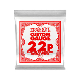 Ernie Ball .022 Plain Steel Electric or Acoustic Guitar Single String