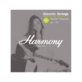 Harmony HE01 Nickel Electric Guitar Strings, Light, 9/42
