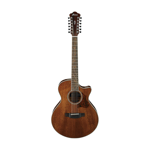 Ibanez AE2412-NT 12-String Acoustic Guitar, Natural High Gloss