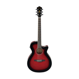 Ibanez AEG8E-TRS Acoustic Guitar, Transparent Red Sunburst