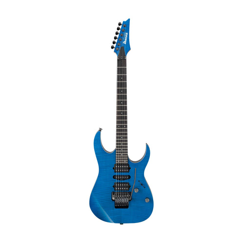 Ibanez RG3770FZ-TB RG Prestige Electric Guitar with Case, Transparent Blue