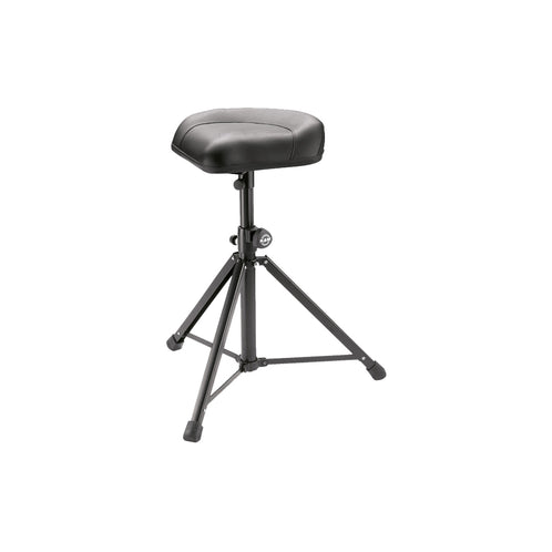 K&M 14052-000-55 14052 Stool, Black Leather