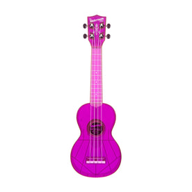 Kala KA-SWF-PL Waterman Soprano Ukulele w/Bag, Fluorescent Grape
