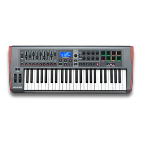 Novation Impulse 49 USB MIDI Controller KB 4 Octave, Touch Sensitive Controls, LED Light Rings
