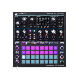 Novation Circuit Mono Station Paraphonic Synthesizer With Three Sequencer
