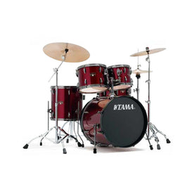 TAMA IP50H6NB-VTR Imperialstar 5-Piece Drum Set w/Black Hardware, NO Cymbal, Vintage Red