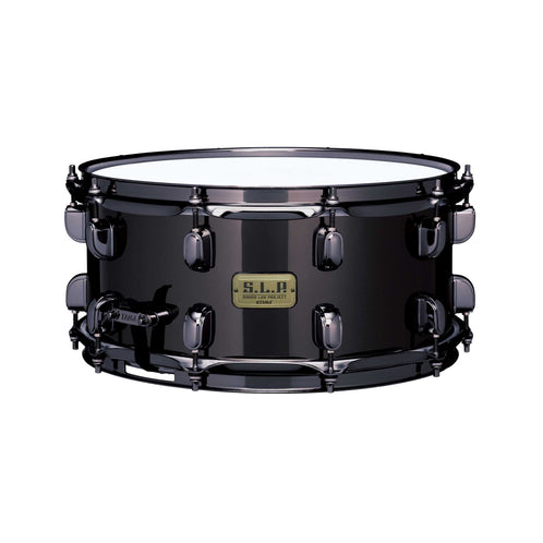 Tama LBR1465 14x6.5inch SLP Black Brass Snare, Black Nickel Plating w/Black Nickel Hardware