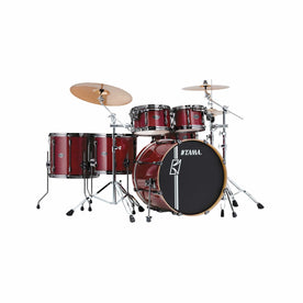 TAMA ML62HZBNS-CCW Superstar Hyper-Drive Maple 6-Piece Drum Shell Kit Only, Classic Cherry Wine