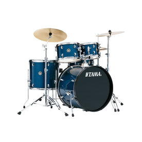 TAMA RM52KH6C-HLB Rhythm Mate 5-Piece Drum Kit w/Hardwares & Cymbals, Hairline Blue