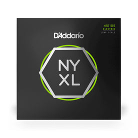 D'Addario NYXL45105, Set Long Scale Bass Guitar Strings, 45-105
