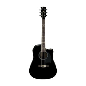 Ibanez PF15ECE-BK Acoustic Guitar, Black High Gloss