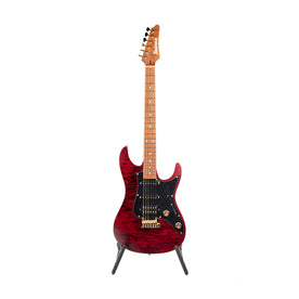 Ibanez Premium SLM10-TRM Scott LePage Signature Electric Guitar, Transparent Red Matte (Autographed)