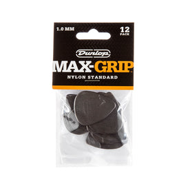 Jim Dunlop 449P 1.0mm Nylon Max Grip Pick, 12-Pack
