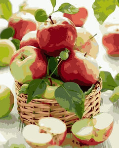 Basket Full of Apples - Paint by Numbers Kit