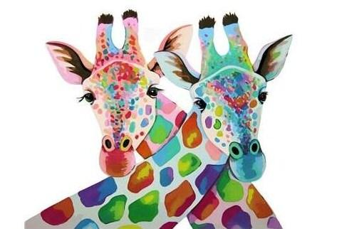 Art Of Colorful African Giraffe - Paint by Numbers