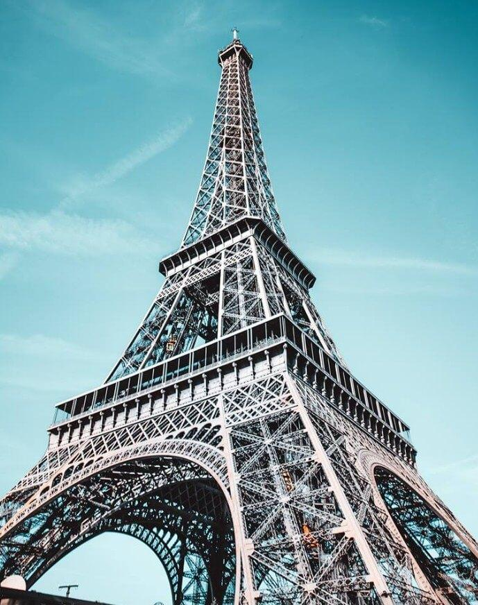 A Wonder of Steel Eiffel Tower - Paint by Numbers