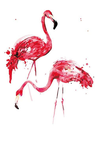 An Artistic Masterpiece of Flamingos