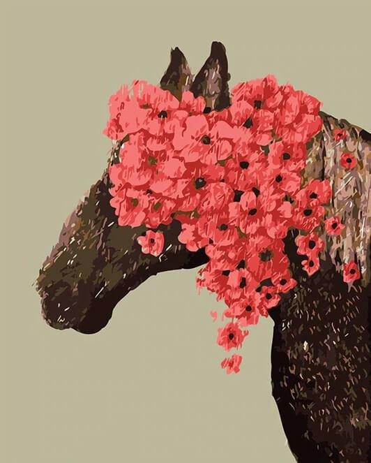Beautiful Horse with Flower Crown DIY Painting Kit