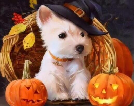 Adorable Puppy of Halloween Painting Kit