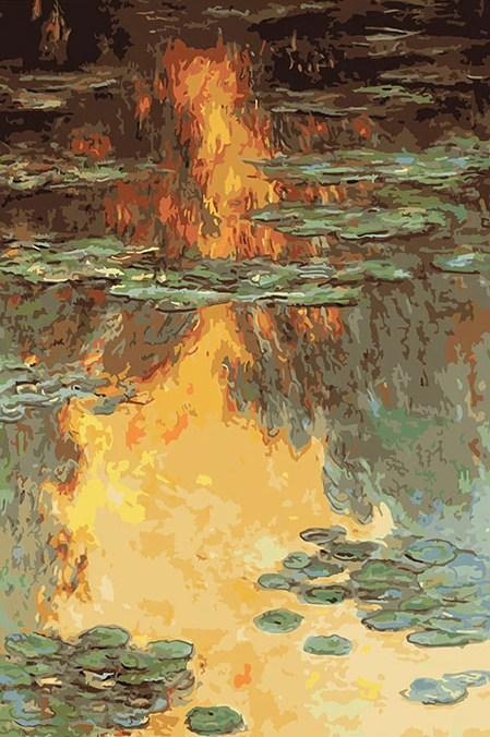 Mirror of Pond - Claude Monet